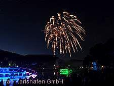 Weserbeleuchtung mit Höhenfeuerwerk Bad Karlshafen