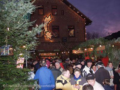 Weihnachtsmarkt mit Herz Oberzent