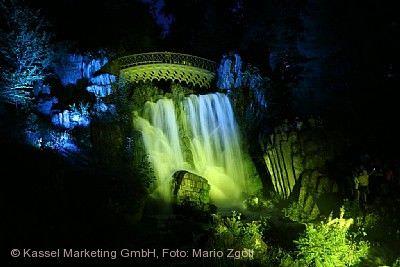 BergparkLeuchten und Beleuchtete Wasserspiele Kassel