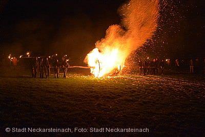 Traditionelles Feuerrad Neckarsteinach
