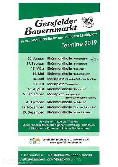 Gersfelder Bauernmarkt Gersfeld (Rhön)