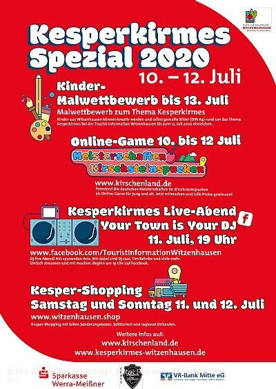 Kesperkirmes Spezial 10. bis 12. Juli 2020 Witzenhausen