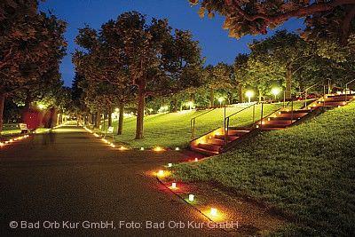 Kurparkfest mit Parkbeleuchtung und Feuerwerk Bad Orb
