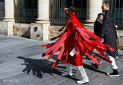 """Life doesn't frighten me"" Michelle Elie wears Comme des Garçons Frankfurt am Main"