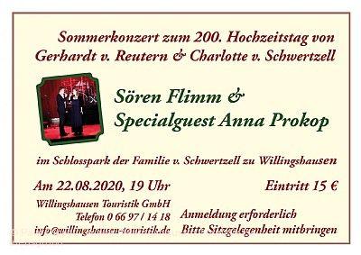 Sommerkonzert mit Sören Flimm und Anna Prokop Willingshausen