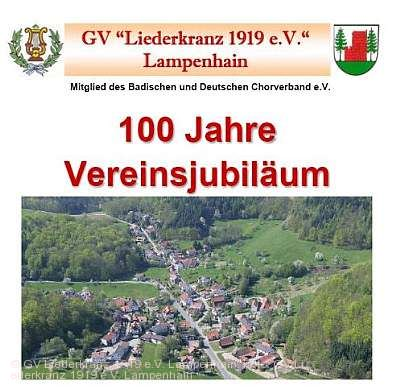 100 Jahre Gesangverein Liederkranz 1919 Lampenhain Heiligkreuzsteinach